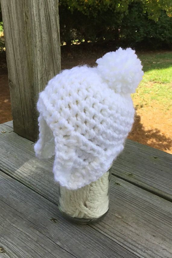 44781a23b4f white baby hat infant hat new born hat by Toocutecrochetbydian ...
