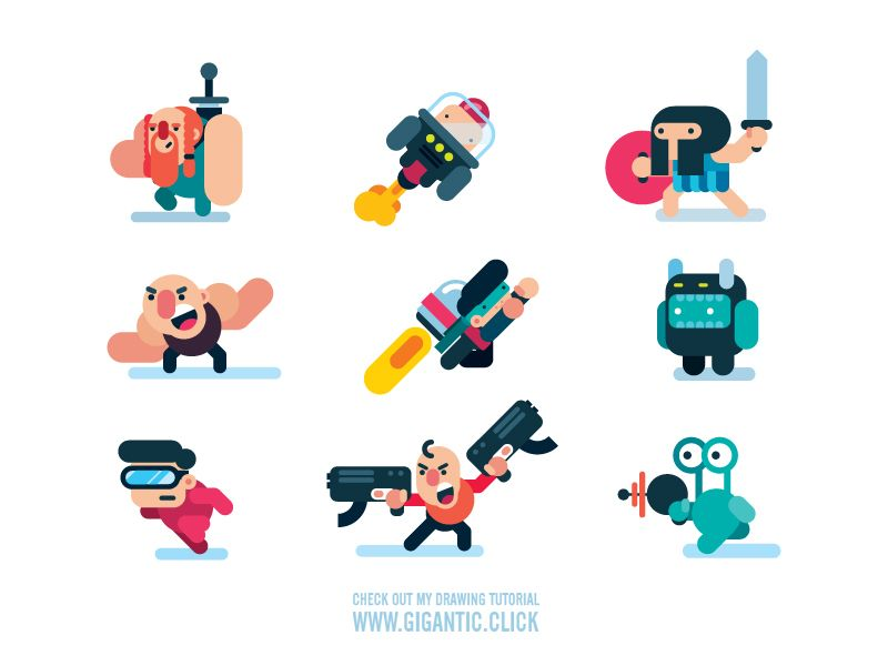 my game characters | game character design, character design, character  flat design  pinterest