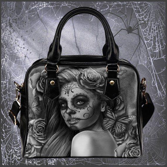 e2058065dc1b Calavera Design  2 (Vintage Retro) Accessorize Yourself Bundle  1 - 1  Shoulder Bag   1 Pair Of High