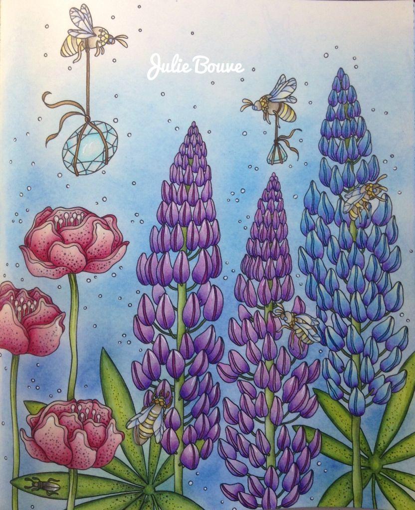 Sommarnatt summernights Hanna Karlzon Faber castell Colored by Julie ...