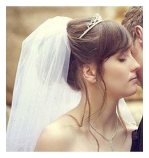 wedding updos with veil and tiara