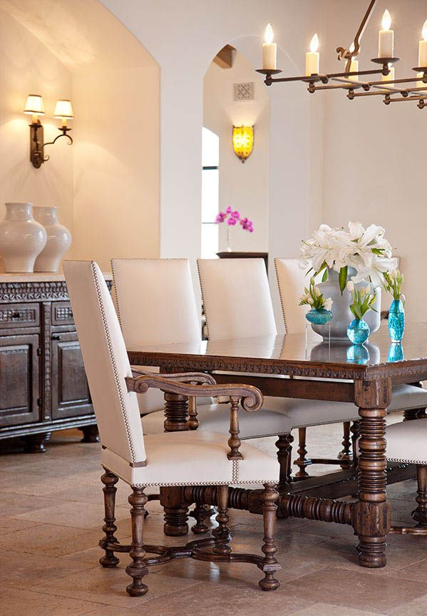 Ebanista Flemish Arm Chairs And XVII Century Dining Table Used In A Stunning Montecito Room Designed By Steve Thompson Zach Hollis From Cabana