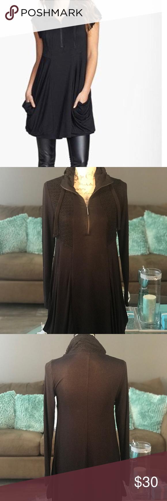 Kensie long sleeve zip front jersey dress my posh picks