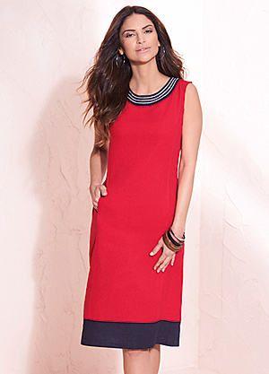 68f7fe4bd0 Linen Rich Contrast Hem Dress  kaleidoscope  summer  fashion ...