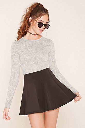 48b26c8d37 Scuba Knit Skater Skirt | clothes (: | Forever 21, Skater Skirt, Skirts