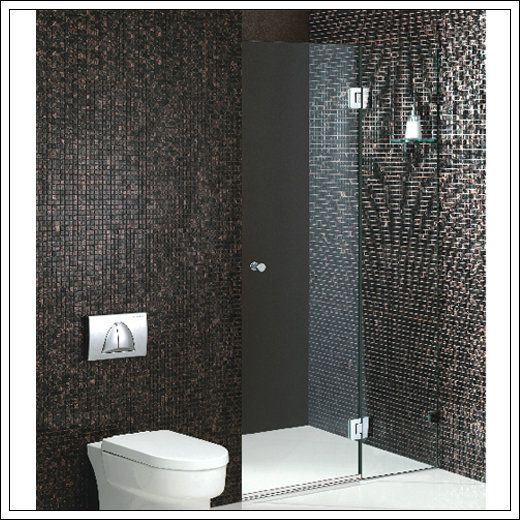 Customized Frameless Wall to Wall Shower Screen (PB01-AD)   Dreamy ...