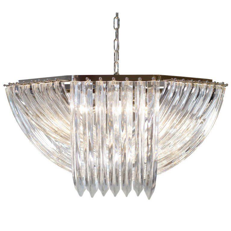 murano glass chandelier in the style of venini, Innedesign
