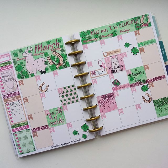 LLucky LLama March Kit In My Happy Planner Plan Planner