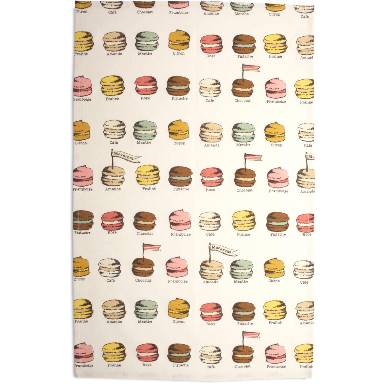 Flavored Macarons Kitchen Towel Sur La Table Kitchen Linens Linen Kitchen Towels Kitchen Towels