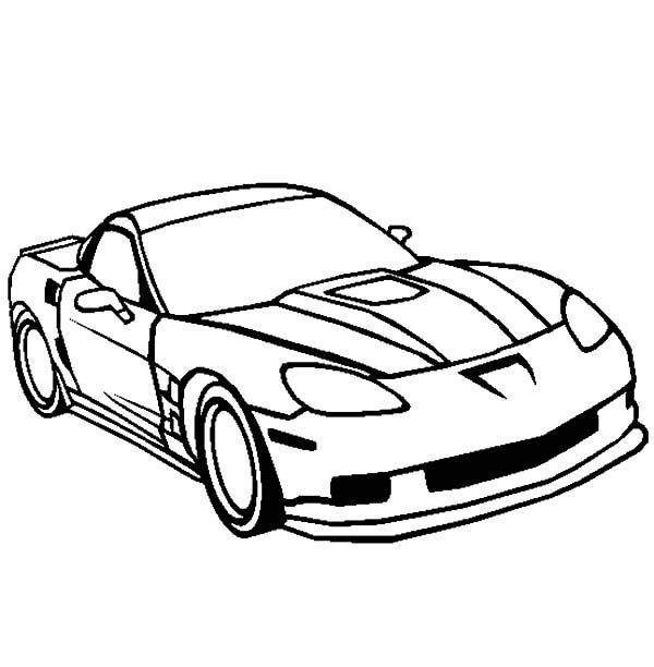 Corvette Cars, : Corvette ZR1 Cars Coloring Pages