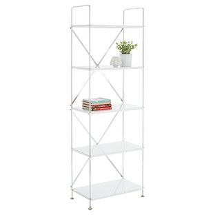 Interior Container Store Shelf white barcelona 5 shelf bookcase cant wait to get one of these these