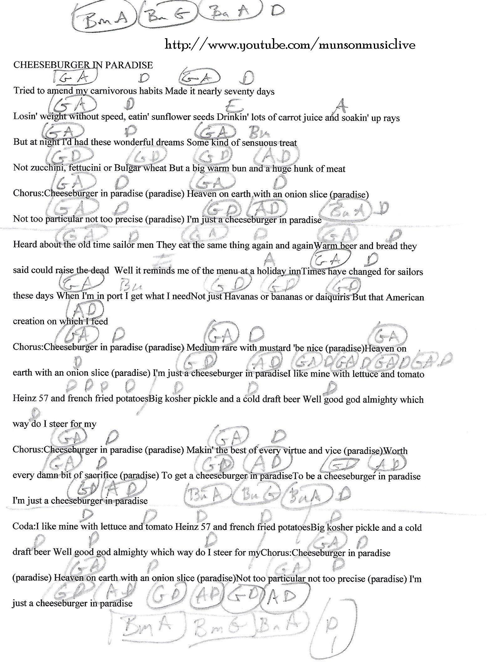 Cheeseburger in paradise jimmy buffett guitar chord chart cheeseburger in paradise jimmy buffett guitar chord chart hexwebz Gallery