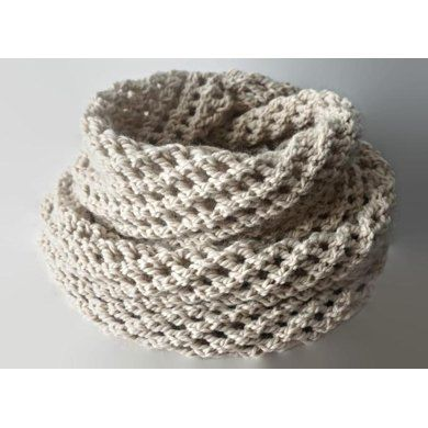 Long Infinity Light Beige Scarf Pattern Knitting pattern ...