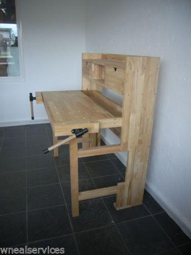 Wns Foldable Wooden Workbench Desk Garage Craft Hobby Joiner