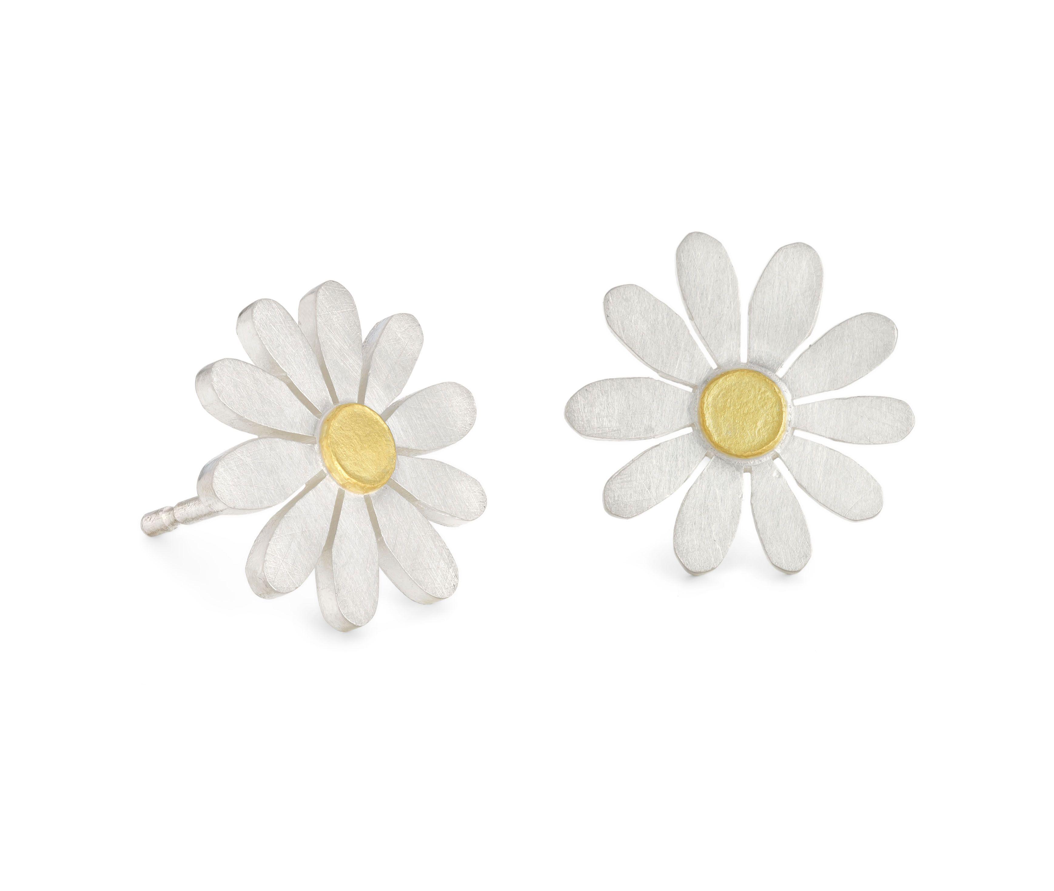 Little Aster Earrings By Diana Greenwood Dianagreenwoodjewellery Aster Flower