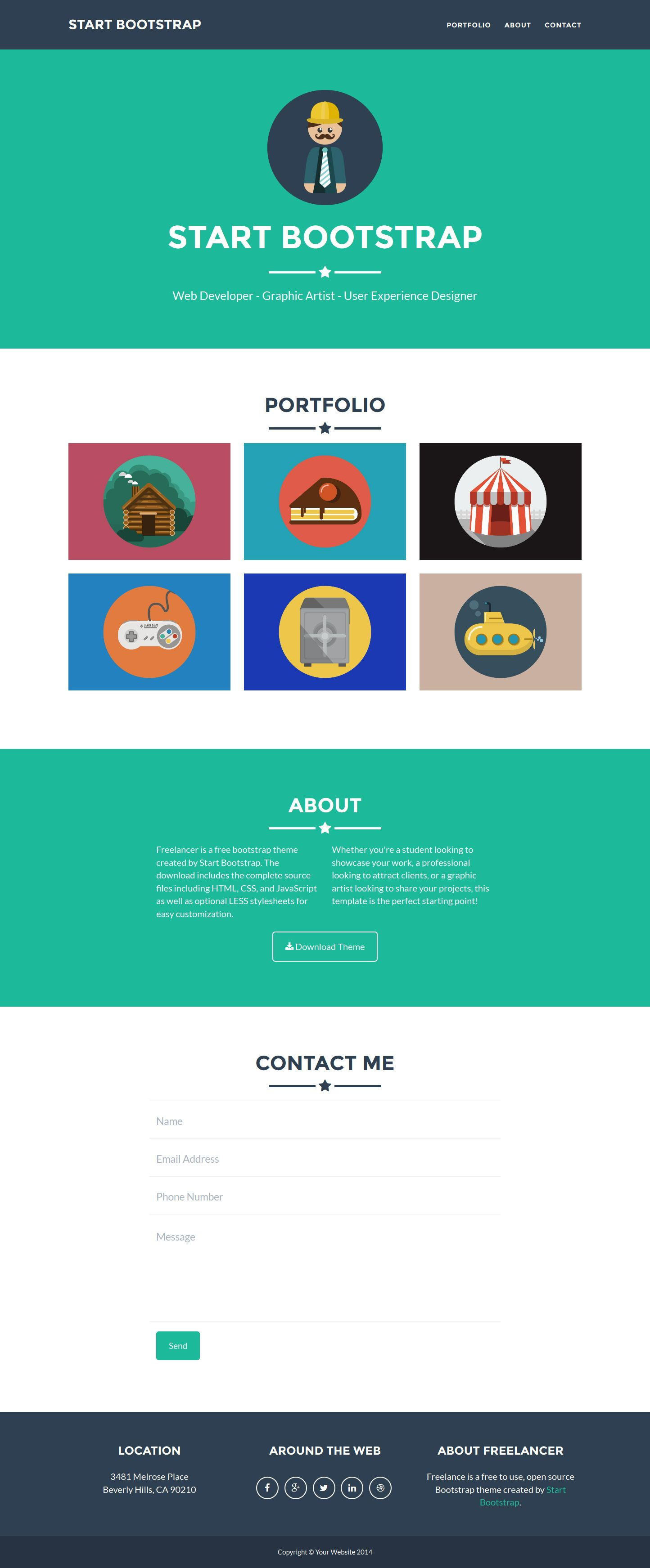 Freelancer by Start Bootstrap | Free Templates | Pinterest