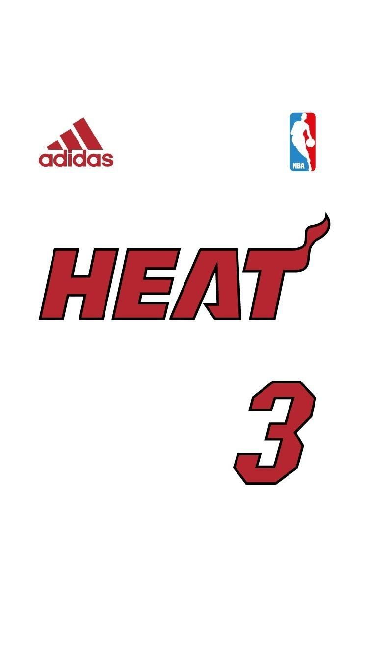Nba Jersey Iphone Wallpaper With Images Miami Basketball Nba Nba Jersey