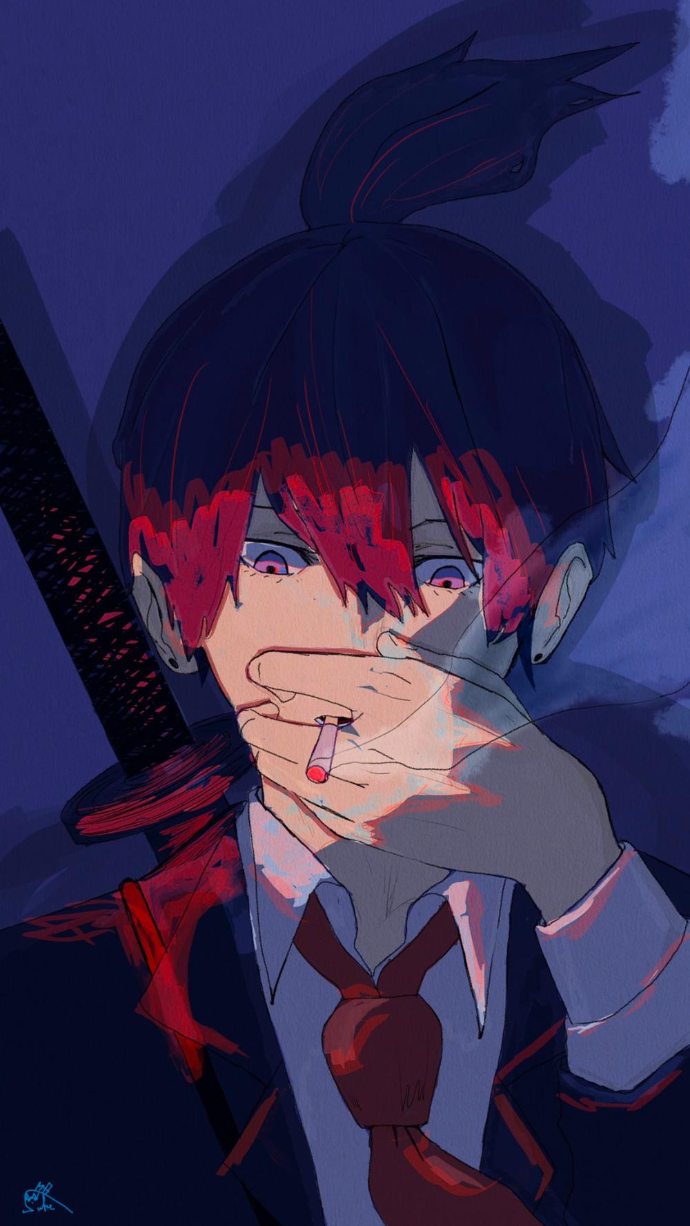 すけ on Twitter in 2020 Dark anime, Chainsaw, Cute anime pics