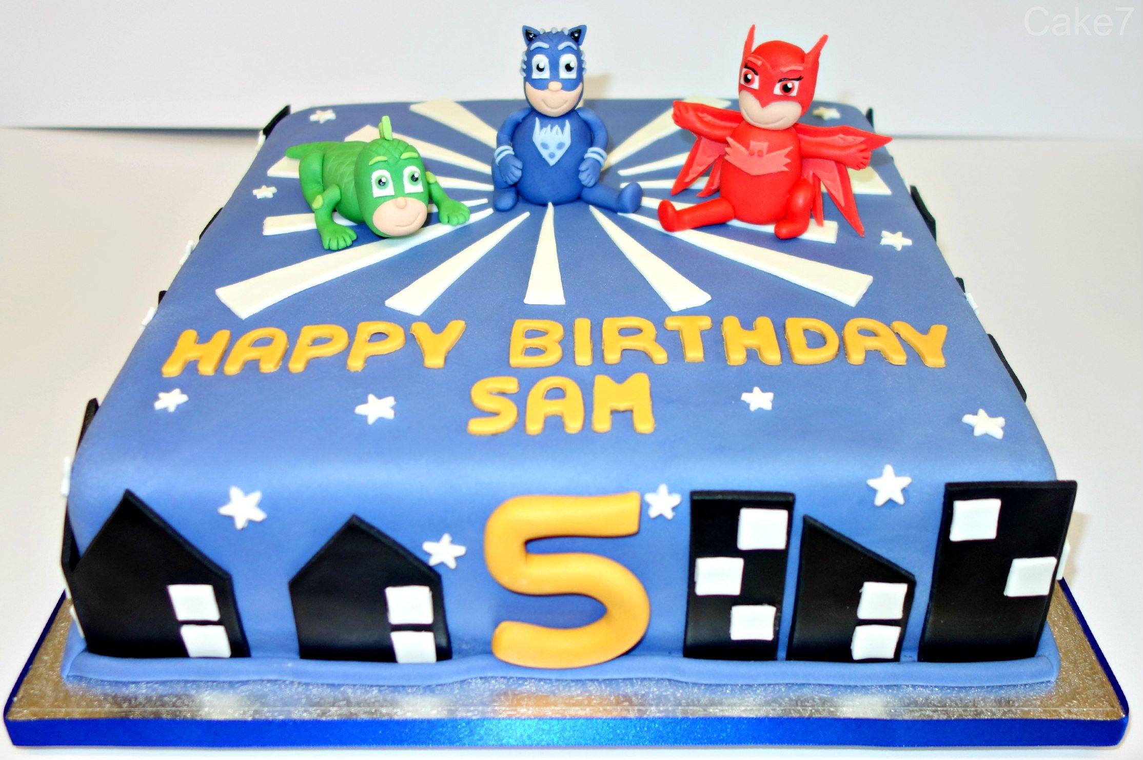 Pj Masks Themed Cake Www Cakeseven Wix Facebook Cake7