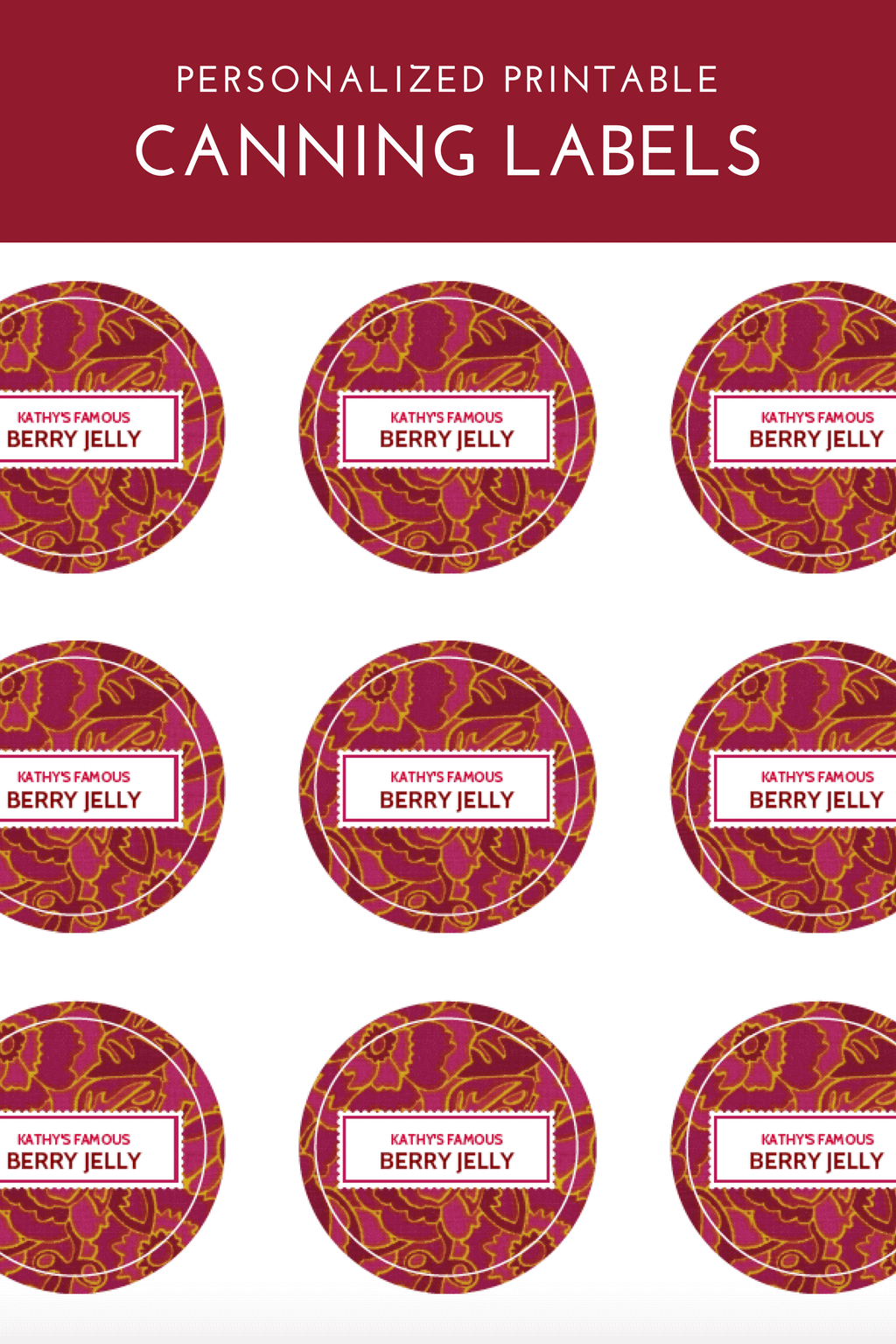 Canning Label Template Printable Labels Label Templates And Template