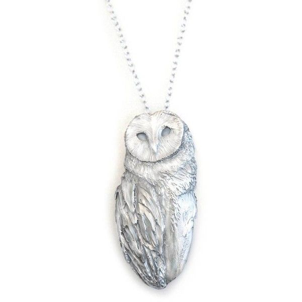 Dominique Lucas Owl Necklace Silver ($592) ❤ liked on Polyvore