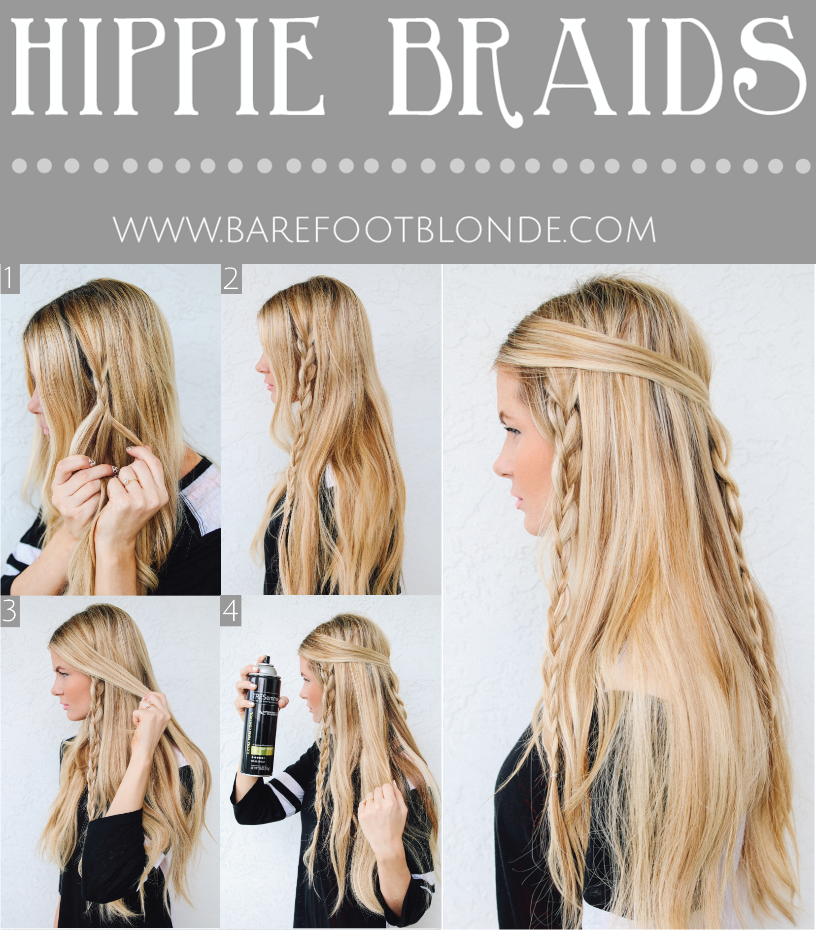 easy hippie braids hairstyle for school | my hairstyle ideas