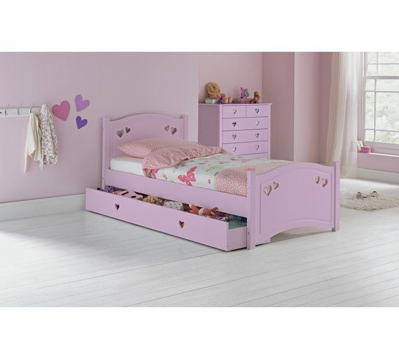 Buy Collection Mia Single Bed Frame Pink At Argos Co Uk Visit Argos Co Uk To Shop Online For Children S Bed With Images Single Bed Frame White Single Bed Frame Kid Beds
