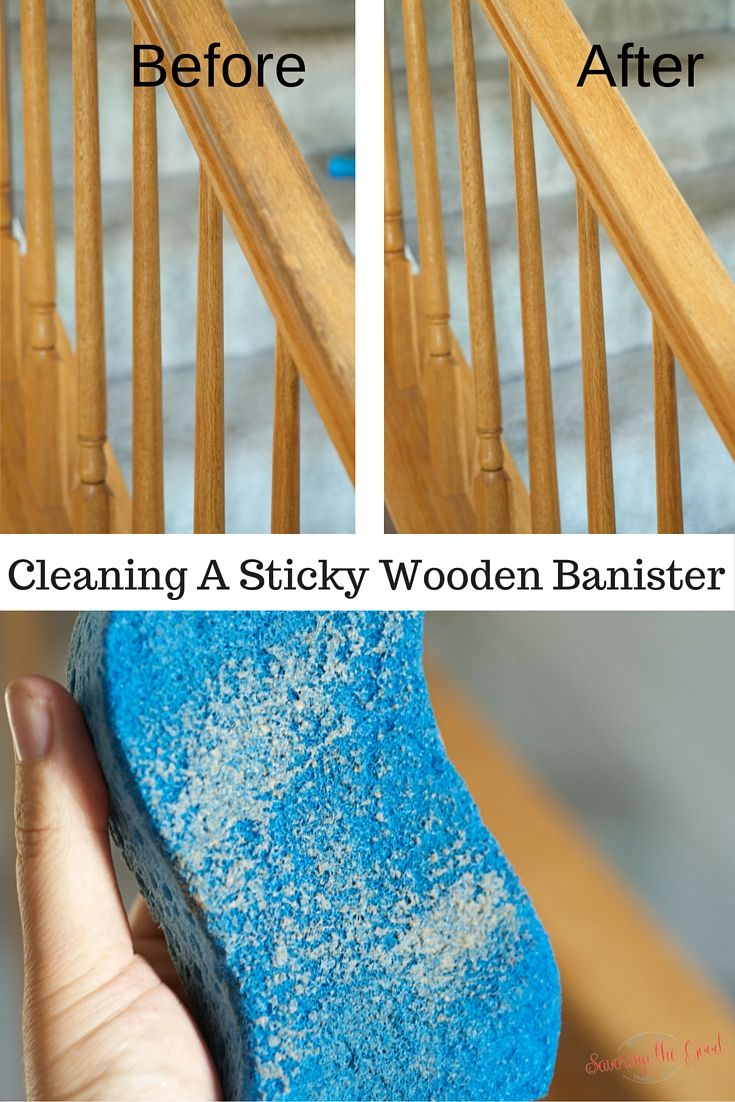 Cleaning Sticky Wooden Banisters With Murphy S Oil Soap Is Easier Than I Thought Here Are Instructions On How To Clean S Cleaning Wood Banisters Wood Banister