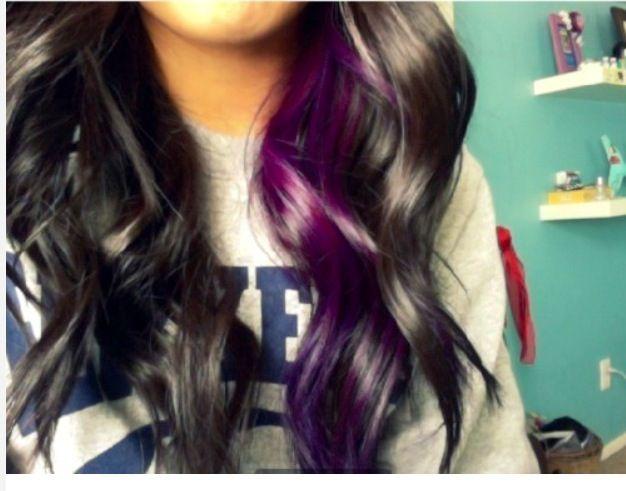 Purple Hair Not Sure I M Ready To Bleach All My Dark