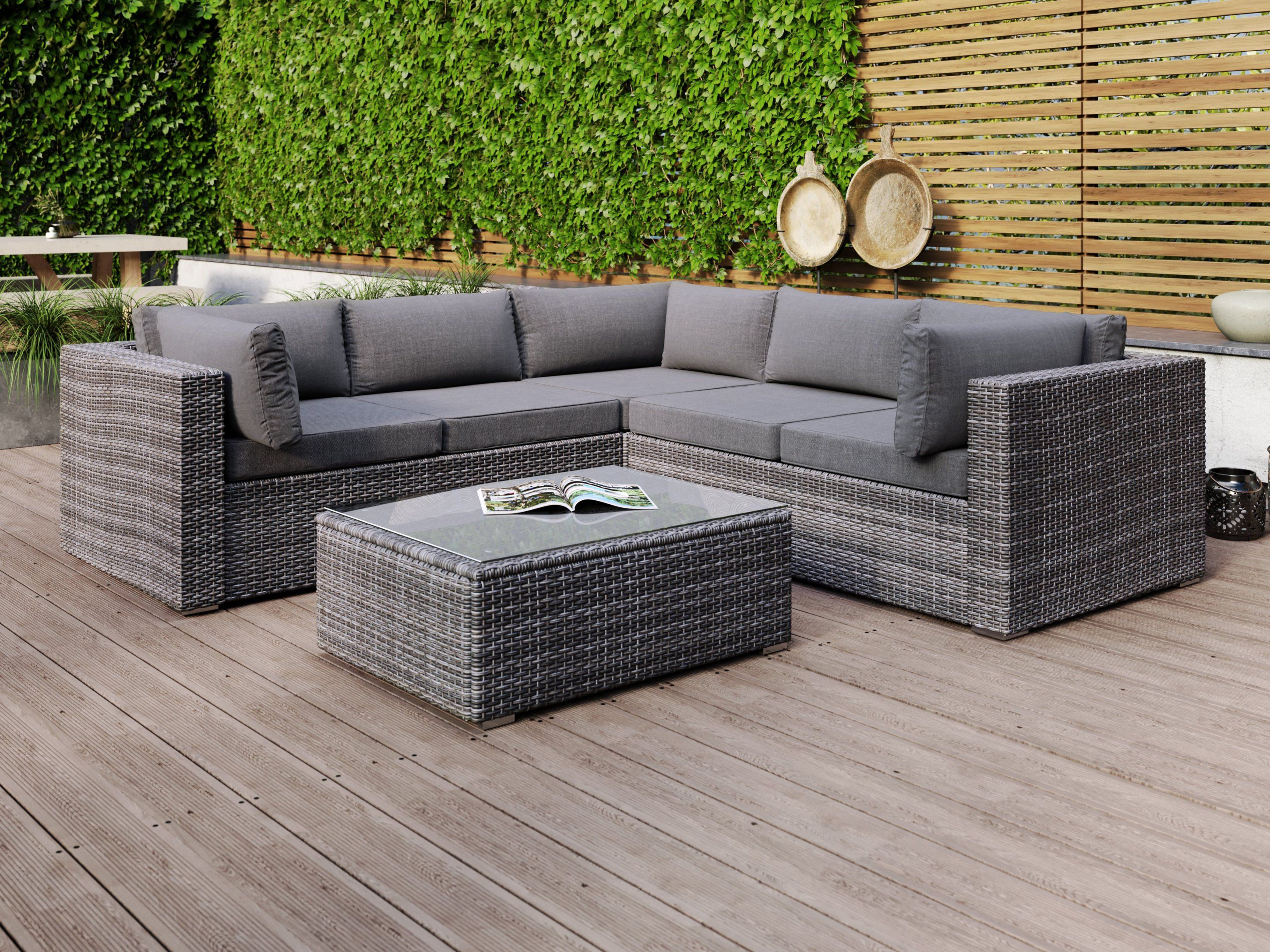 Sandpiper Rattan Corner Suite Dark Outdoor Furniture Nz Outdoor Furniture Best Leather Sofa