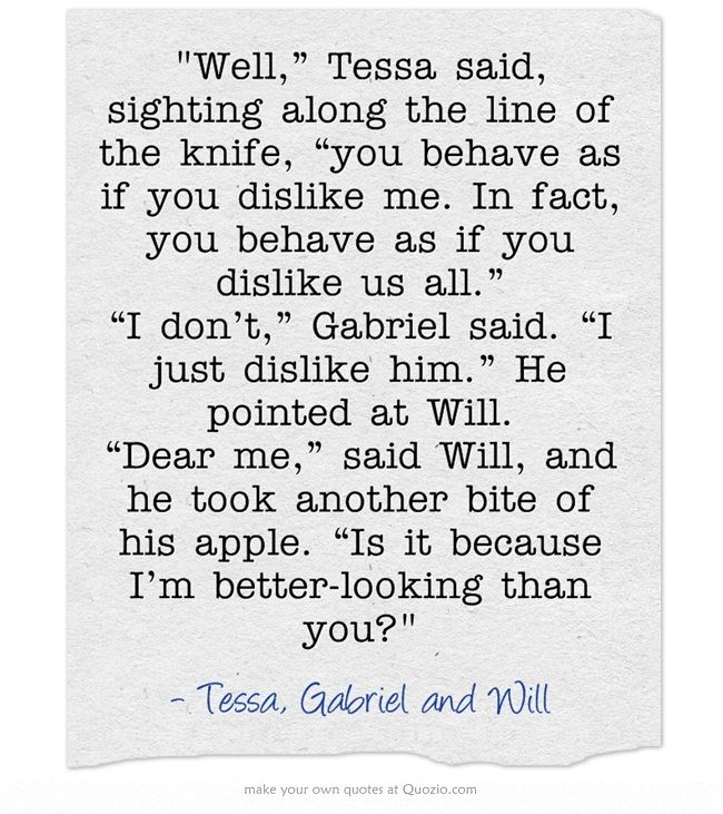 the infernal devices quotes tessa gray gabriel