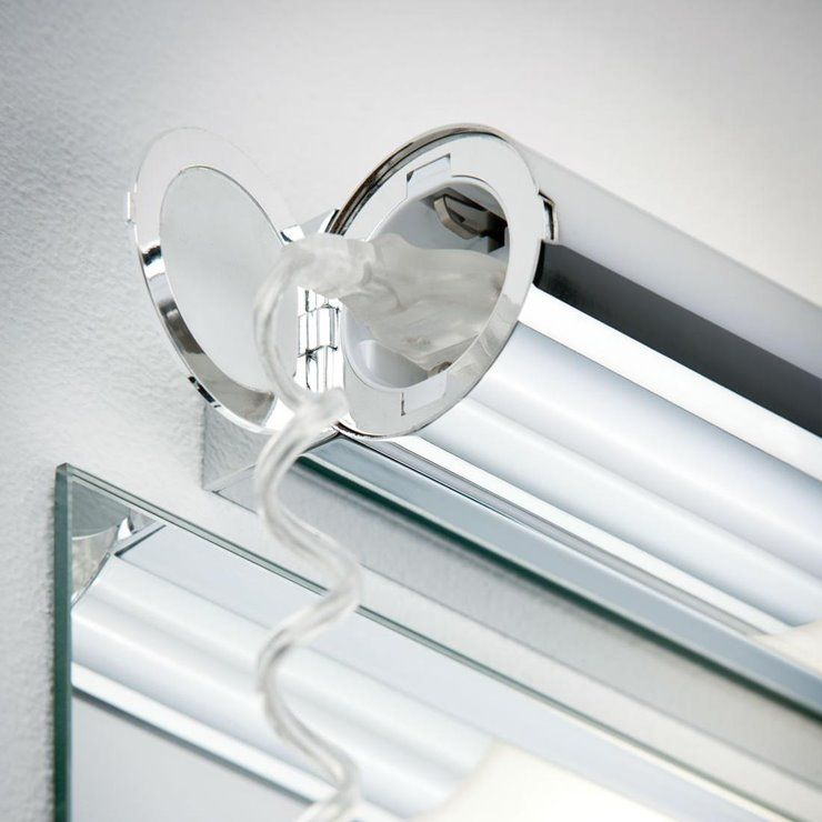 Orgon Applique Led De Salle De Bain Avec Prise Metal L70cm Chrome Paulmann In 2020 Wall Lights Wall Lighting
