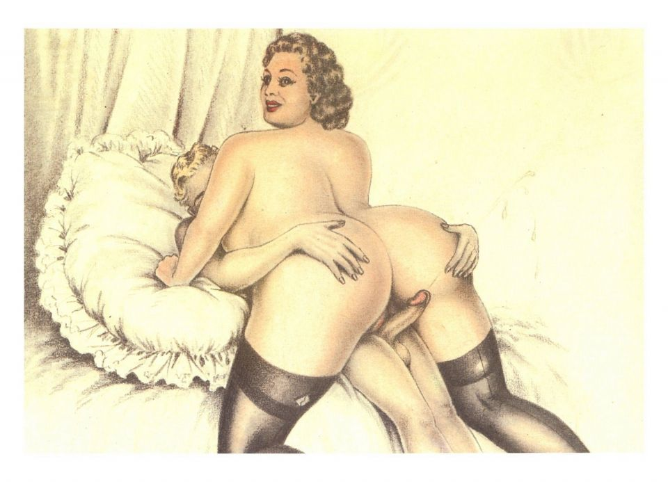 Eeotic Gay Porn Pencil Drawing - Vintage cartoon porn full size