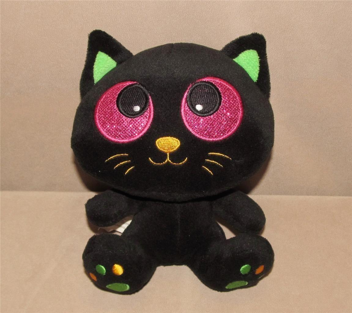 24 99 Similar Have Owl American Greetings Black Purple Green Kitten Cat Halloween Big Head Plush 7 Toy Eba Plush Animals Cats And Kittens Halloween Cat