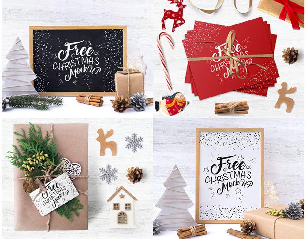 Free Christmas Time Mockup Set Free Christmas Christmas Time Christmas