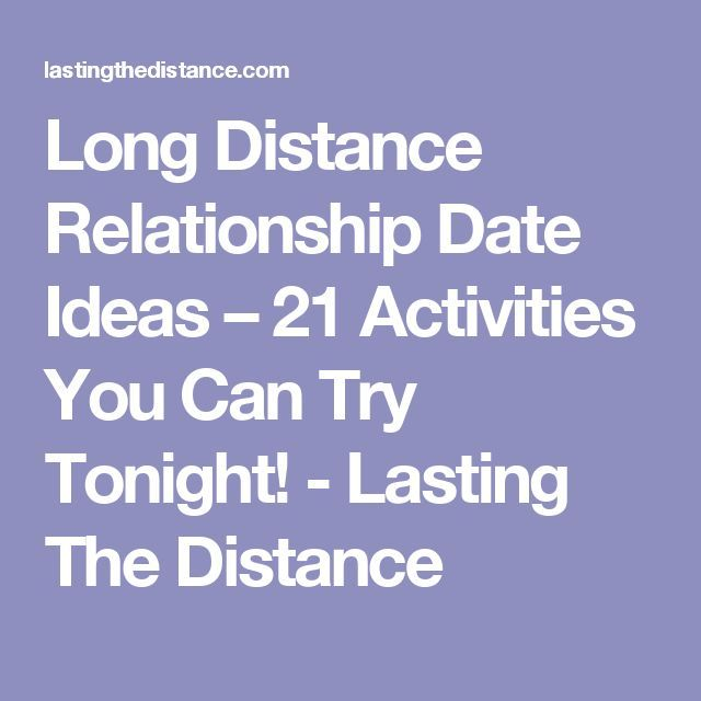 Long distance relationship things to do