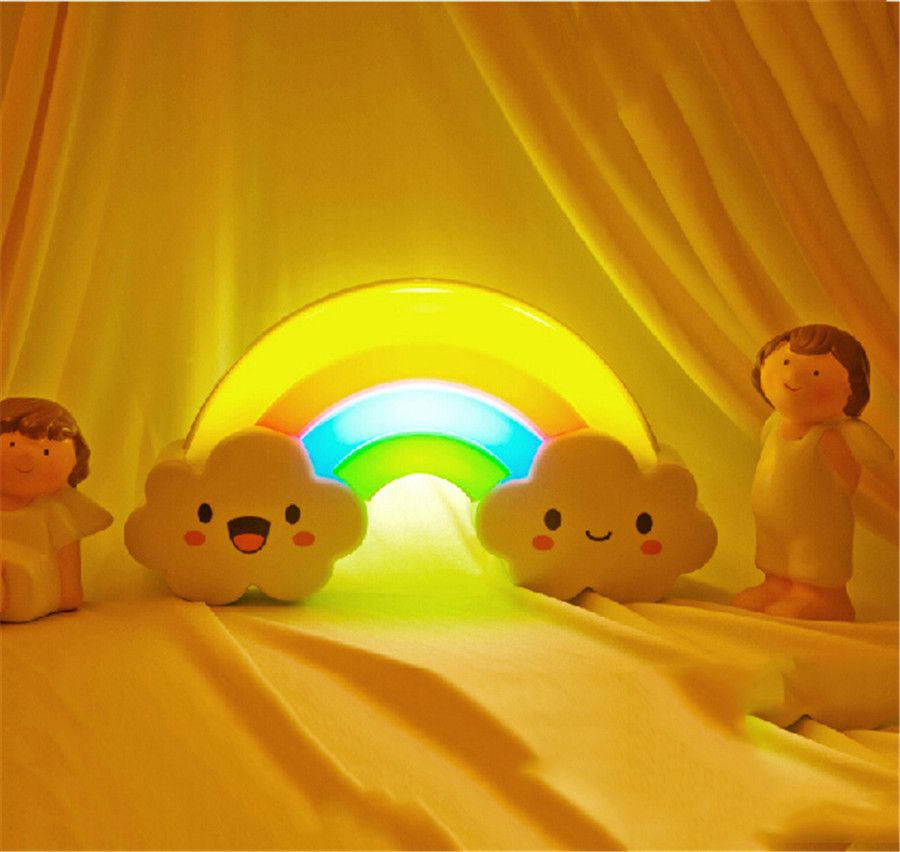 Rainbow Shape Sound Sensitive Bed Lamp – Well Pick