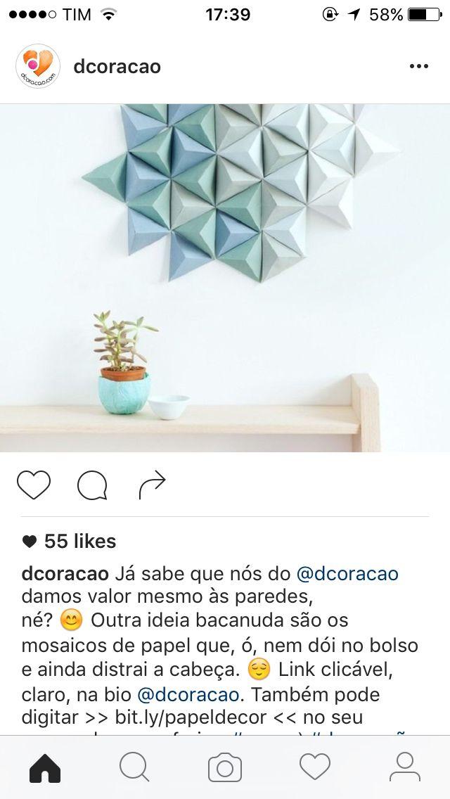 Enfeite Parede Mosaico De Papel Ideias Mosaicos