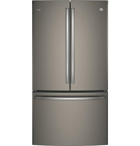 GE Profile™ Series ENERGY STAR® 23.1 Cu. Ft. Counter-Depth French-Door Refrigerator– Model #: PWE23KMKES