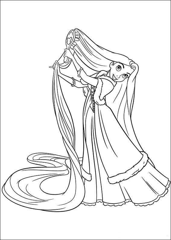 The Best Disney Tangled Rapunzel Coloring Pages