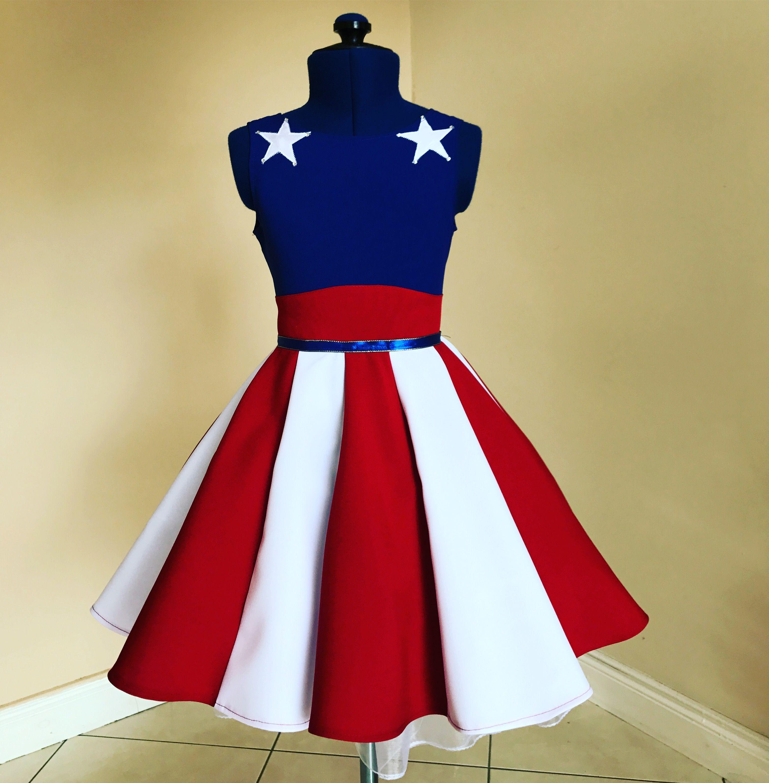 4th of July dress lajupemix kids fashion patriotic dress