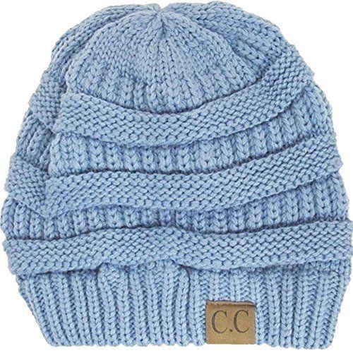 Cap · Thick Slouchy Knit Oversized Beanie Cap Hat - Light Grey at Amazon  Women s Clothing ... 82f92da35151