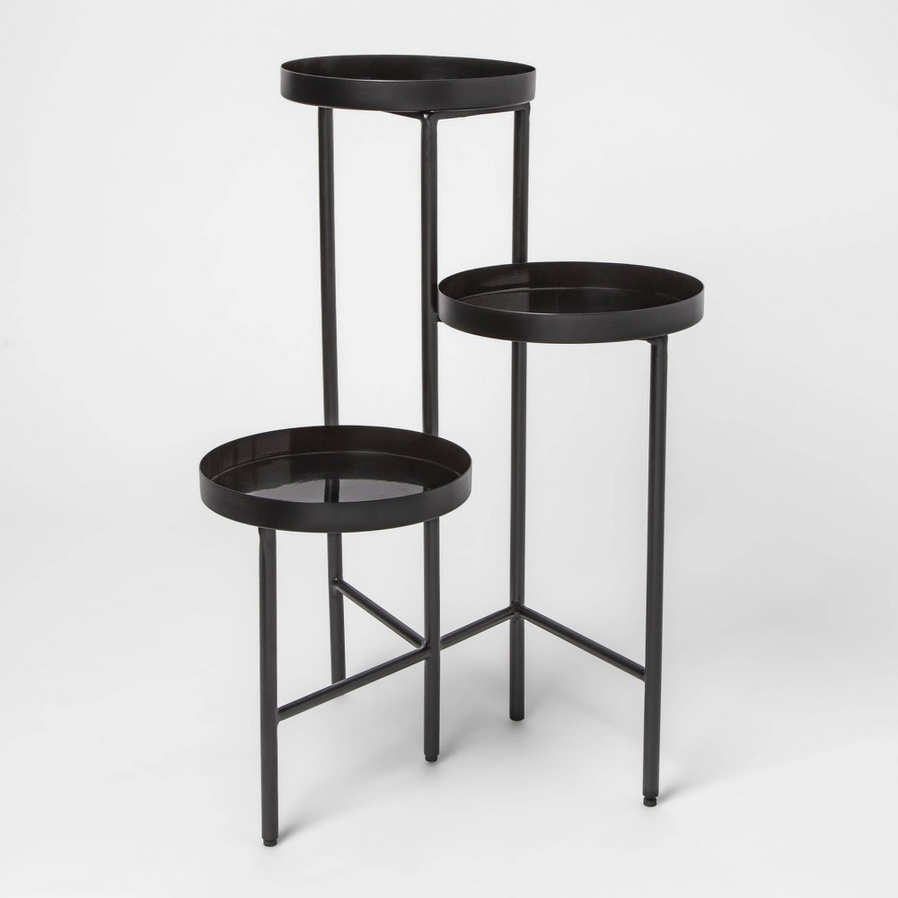 27 X 19 2 3 Tier Metal Planter Stand Black Project 62