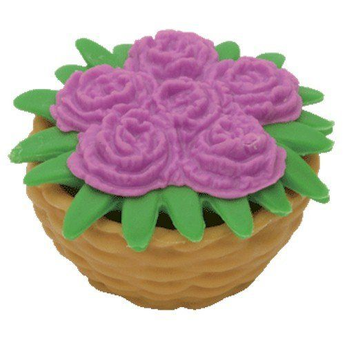 """Ty Beanie Eraserz - Flower Basket Violet by Ty. $3.95. Iwako Japanese Puzzle Eraser. Approximately 1.5"""". For Ages 3 and Up. Ty Beanie Eraserz are popular Japanese Puzzle Erasers that come apart and can be put back together.  Collect them all."""