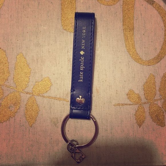 Blue Kate spade key chain. Price is firm. Used. kate spade Accessories Key & Card Holders