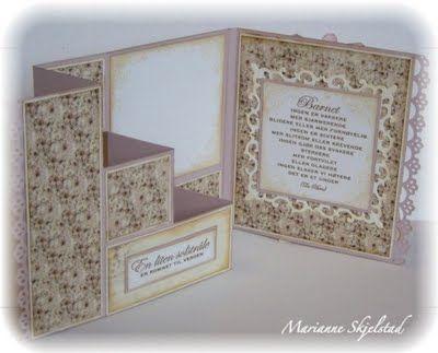 Mariannes papirverden.: Babykort - Pion Design