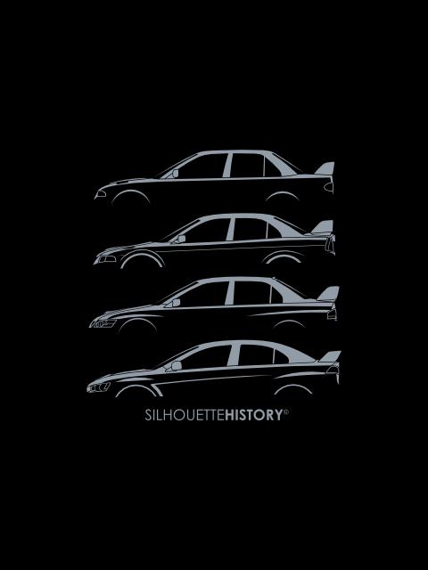 Mitsubishi Lancer Evo Silhouettehistory Artwork Mitsubishi Lancer Evolution Mitsubishi Lancer Mitsubishi Evo