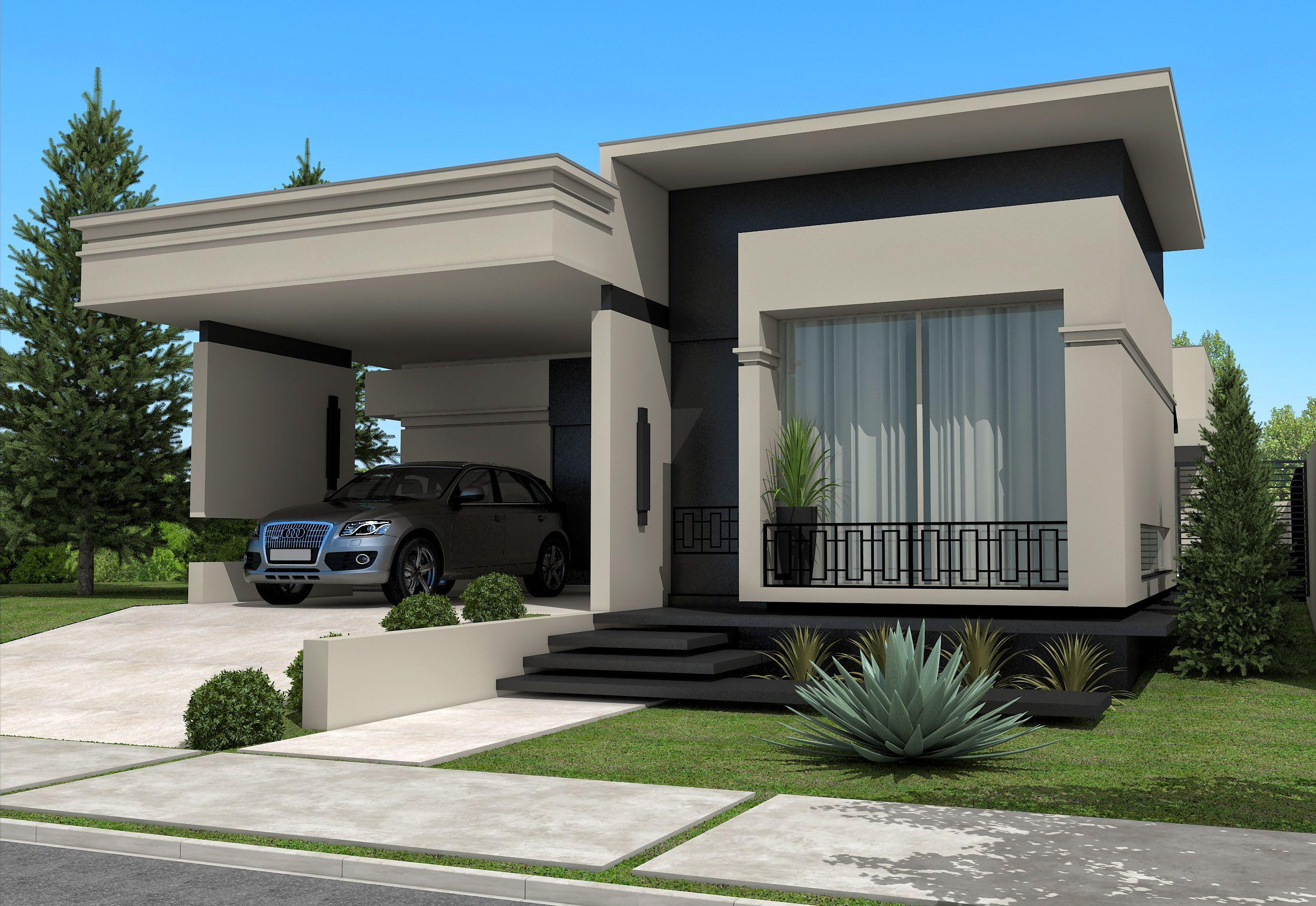 Fachadas de Casas Térreas Fotos, modelos Casas modernas