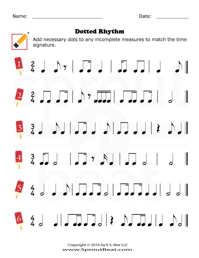 Printable Worksheets counting music notes worksheets : Dotted Rhythm - SproutBeat | composition | Pinterest | Music ...