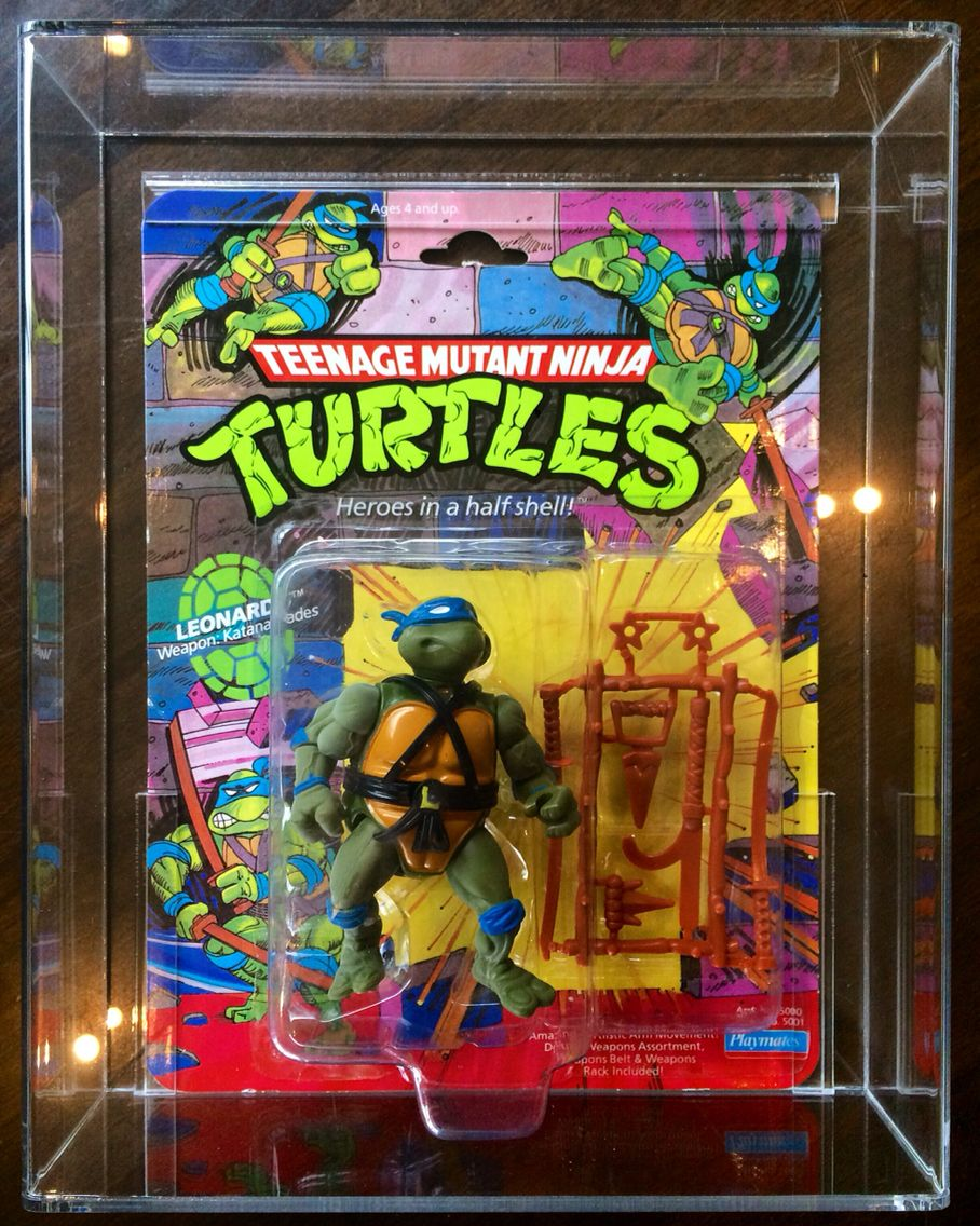 1988 tmnt leonardo in display case teenage mutant ninja
